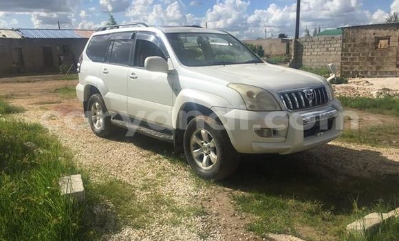 Buy Used Toyota Land Cruiser Prado White Car in Lusaka in Zambia