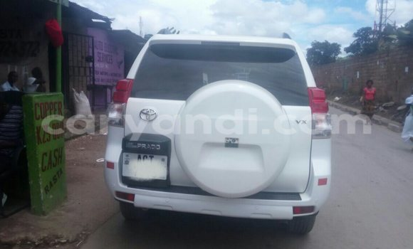 Buy Used Toyota Land Cruiser Prado White Car in Chipata in Zambia