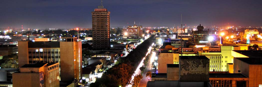 Lusaka zambia at night