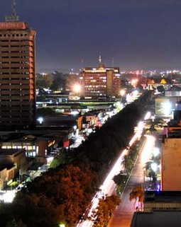 Thumb lusaka zambia at night